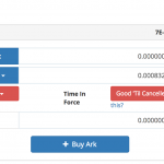 Buying Ark on Bittrex