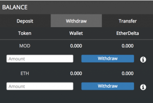 Withdraw EtherDelta