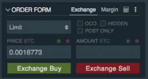 Ethereum Classic Buy Pane Bitfinex