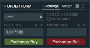 Monero Buy Pane Bitfinex