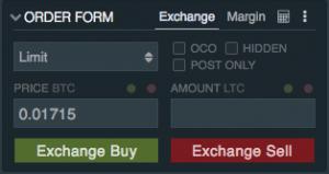 Litecoin Buy Pane Bitfinex