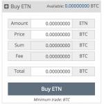 Cryptopia DigiByte buy panel