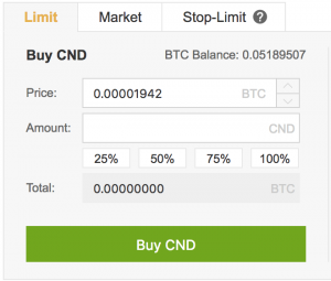 Buying Cindicator on Binance UK