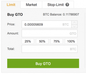 Gifto buy panel Binance