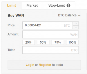 Buy Wanchain UK Binance Panel