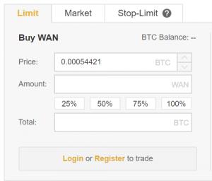 Buy Wanchain UK Binance Panel