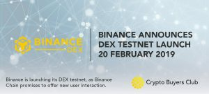 Binance Chain testnet set to launch February 20th, BNB price responds