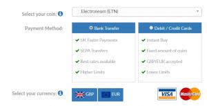 BC Bitcoin buy Electroneum