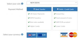 Buy NEM UK BC Bitcoin