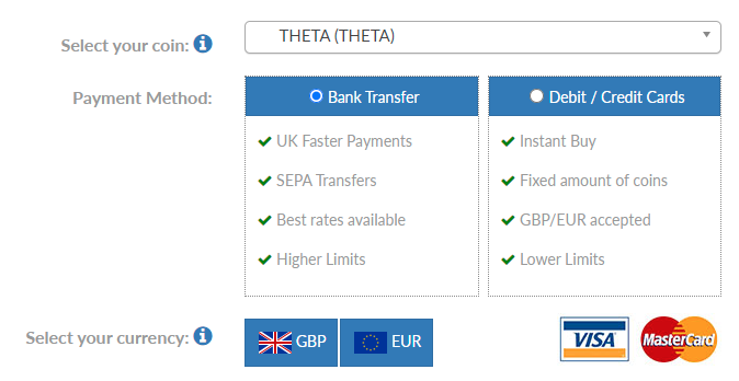 Buy THETA in the UK