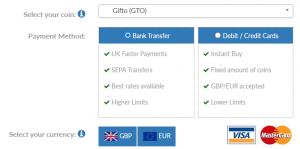 How to buy Gifto (GTO) in the UK
