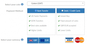 How to buy Golem GNT in the UK