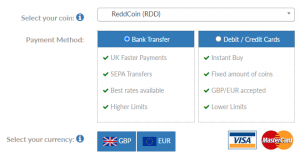 How to buy ReddCoin UK