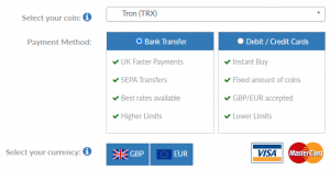 How to buy TRX in the UK